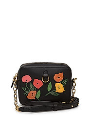 FLORAL APPLIQUE-SMALL CAMERA-CXB-SM - BLACK W/ MULTI FL