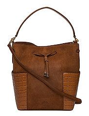 Suede Debby Drawstring Bag - LAUREN TAN