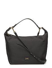 Nylon Hobo Bag - BLACK