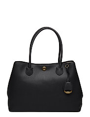 Leather Market Tote - BLACK TONAL