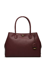 Leather Market Tote - MERLOT