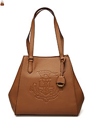 Anchor Leather Tote - LAUREN TAN