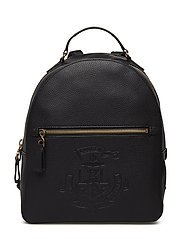 Anchor Leather Backpack - BLACK