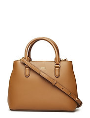 Mini Leather Satchel - FIELD BROWN/ORANG