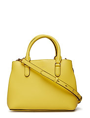 Mini Leather Satchel - LEMON SORBET/ALPA