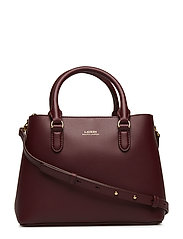 Mini Leather Satchel - MERLOT/ROSE SMOKE