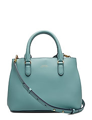 Mini Leather Satchel - SEAFOAM/BLUE MIST