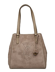 Anchor Suede Tote - TAUPE
