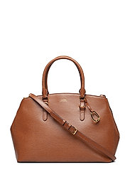 Leather Double-Zip Satchel