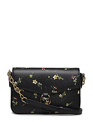PRINTED SAFFIANO-FLAP XBODY-CXB-MED - BLACK VINTAGE FLO
