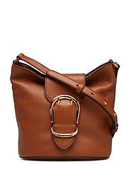 Pebbled Leather Bucket Bag - LAUREN TAN