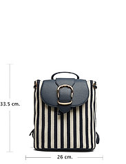 70df00aaa Striped Canvas Backpack (Navy/ivory Stripe) (£157.50) - Lauren Ralph ...