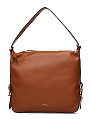 Leather Slouch Hobo Bag