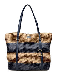 Crocheted Straw Large Tote