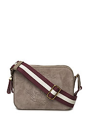 SUEDE W/WEBBING-CAMERA BAG-CXB-MED - TAUPE