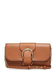 Pebbled Leather Crossbody Bag - LAUREN TAN