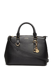 Saffiano Leather Mini Satchel - BLACK