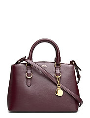 Saffiano Leather Mini Satchel - BORDEAUX