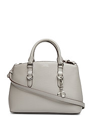 Saffiano Leather Mini Satchel - DRIVER GREY