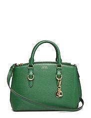 Saffiano Leather Mini Satchel - GREEN CLOVER