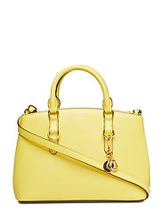 Saffiano Leather Mini Satchel - LEMON SORBET