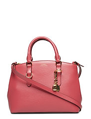Saffiano Leather Mini Satchel - RASPBERRY GELATO