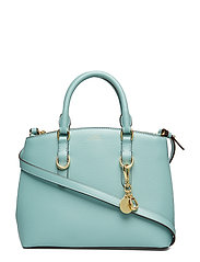 Saffiano Leather Mini Satchel - SEAFOAM