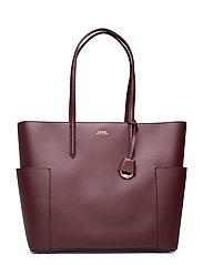 Large Leather Tote - BORDEAUX/FIELD BR