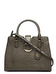 Leather Mini Satchel - DEEP OLIVE