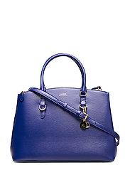 Saffiano Leather Satchel - DEEP BLUE