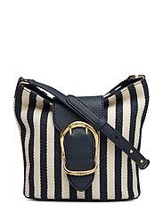 Striped Bucket Bag - NAVY/IVORY STRIPE