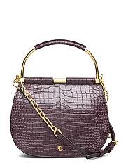 Mini Round Leather Satchel - BORDEAUX