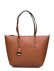 Faux-Leather Small Tote - LAUREN TAN