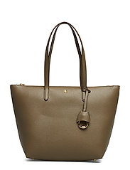 Faux-Leather Small Tote - SAGE