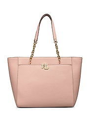 Medium Leather Tote - MELLOW PINK