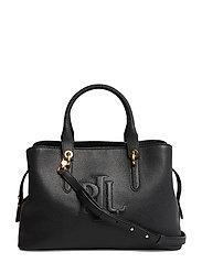 Hayward Leather Medium Satchel - BLACK