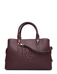 Hayward Leather Medium Satchel - BORDEAUX