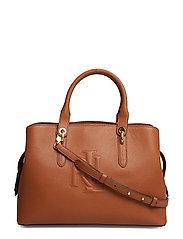 Hayward Leather Medium Satchel - LAUREN TAN