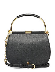 Mini Leather Round Satchel - BLACK