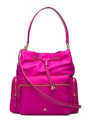 Nylon Debby Drawstring Bag - DEEP FUCHSIA