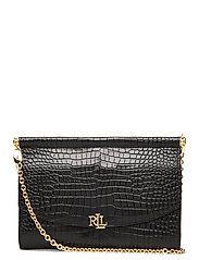 Leather Mini Clutch - BLACK