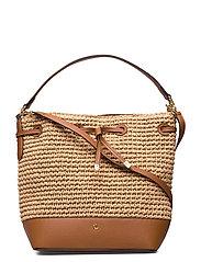 Straw Debby Drawstring Bag - NATURAL