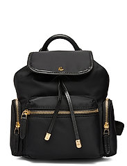 Nylon Keely Small Backpack - BLACK