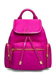 Nylon Keely Small Backpack - DEEP FUCHSIA
