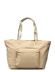 Nylon Medium Canton Tote - BIRCH TAN