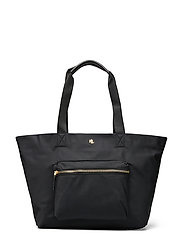 Nylon Medium Canton Tote - BLACK