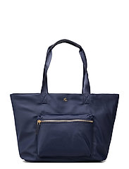 Nylon Medium Canton Tote - LAUREN NAVY