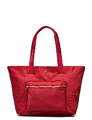 Nylon Medium Canton Tote - RL 2000 RED