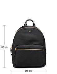 Lauren Ralph Lauren - Nylon Medium Clarkson Backpack - rygsække - black - 5