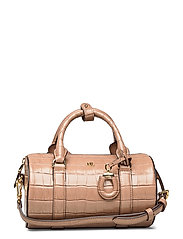 Leather Small Satchel - NUDE